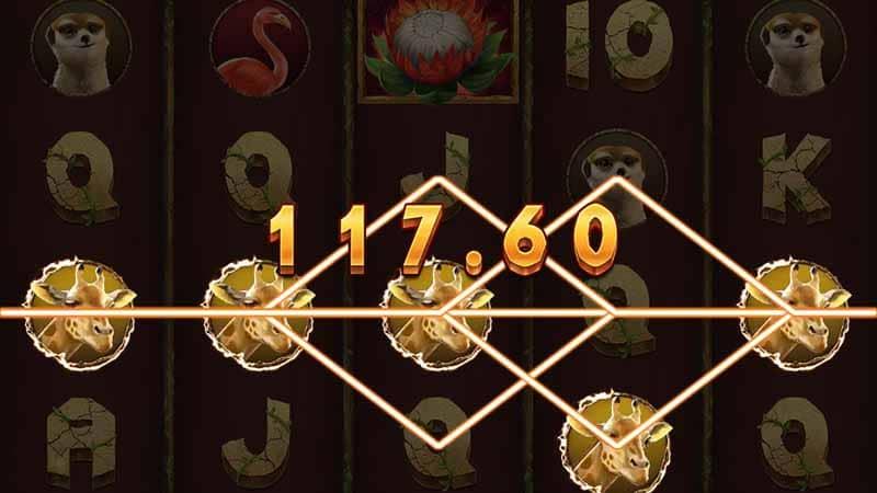 สัญลักษณภายในเกมสล็อต สิงโตผู้ยิ่งใหญ่ Dragoon soft